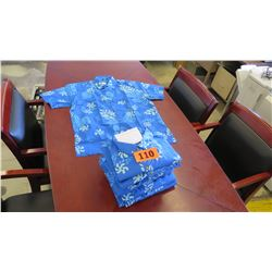 Qty 13 Blue Island Traditions of Hawaii Men's Aloha Print Shirt (Size XXL)