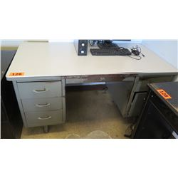 Metal Desk 60 x 30 x 29.25 H