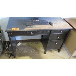 Black Wooden Desk 47 x 19.25 x 30 H
