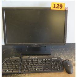 Dell Monitor, Keyboard, Mouse
