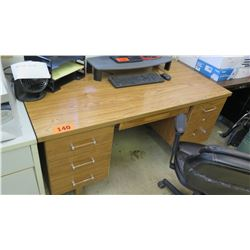 Wooden Desk with 6-Drawer (broken handle) 60 x 30 x 29.5 H