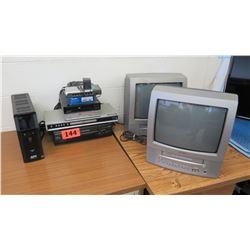 Misc. Electronics: APC Battery Back-Up, (2) Toshiba TVs, VCRs, etc.