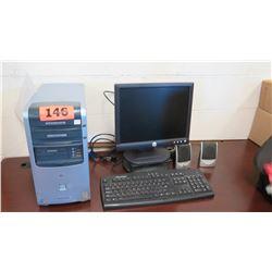 HP Desktop Computer w/ Monitor, Keyboard & Speakers