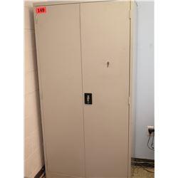Tall Metal Storage Cabinet w/ Key