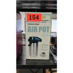 Stainless Steel Air Pot Coffee Dispenser in Box
