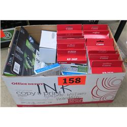 Box of Printer Ink Cartridges (HP, Canon, etc)