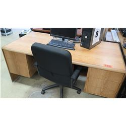 Wooden Desk with Chair 71 x 35.5 x 29.5 H