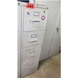 HON 4-Drawer Vertical File Cabinet w/ Key 26.5 x 18 x 52 H