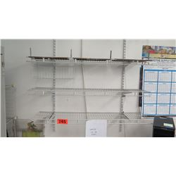 Wall-Mount Wire Shelfing (attached to wall) 48.25 L x 13 W