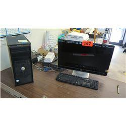 Dell Optiplex 380 Desktop Computer w/ HP Monitor, Keyboard