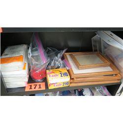 Misc. Supplies: Wooden Frames, Pencils, etc.