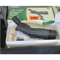 Alpen Waterproof Spotting Scope in Box