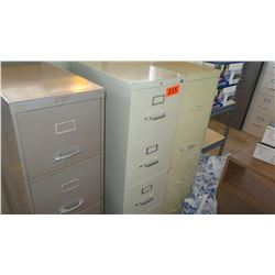 Qty 3 Vertical Metal File Cabinetsn26.5 x 14.5 x 51.75