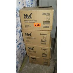 Qty 4 NVI D68006 Manual Hands-Free Towel Dispenser