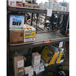 Bus Parts - Contents of Shelves: Filters, Cartridges, Diesel Exhaust Fluid, etc.
