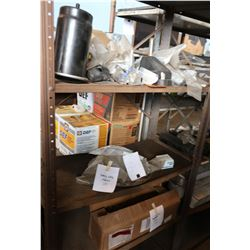 Bus Parts - Contents of Shelves: Filters, Hardware, Heavy Duty Flasher, Cable, etc.
