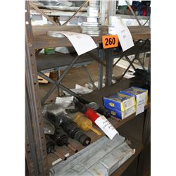 Bus Parts - Contents of Shelves: Dust Shield, Shocks, Universal Joints, etc.