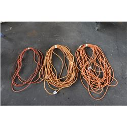 Qty 3 Extension Cords