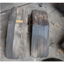 Wooden Vehicle Ramps (approx. 2.5' long)