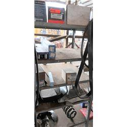 Bus Parts - Contents of Shelves: Water Pumps, Hinges, Mirrors, etc.