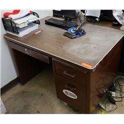 Small Metal 2-Drawer Desk