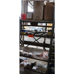 Bus Parts - Contents of Shelves: Hose Clamps, Fittings, Exhaust Clamps, etc.