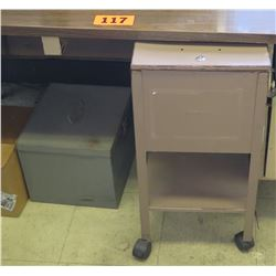 Rolling File Cabinet and 2 Paper Cutters (Desk Not Included)