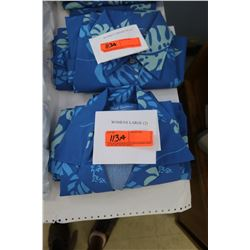 Qty 4 Blue Island Traditions of Hawaii Women's Aloha Print Shirts (2 Medium, 2 Large)