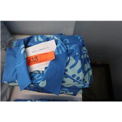 Qty 7 Blue Island Traditions of Hawaii Mens Aloha Print Shirt xl