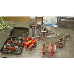 Large Lot of Ridgid 300 Pipe Threader, Cutter, etc.