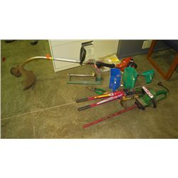 Misc. Tools, Weedwacker, Hedgre Trimmers, Bolt Cutters, etc.