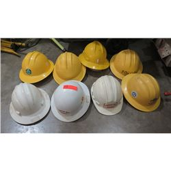 Qty 8 Plastic Hard Hats