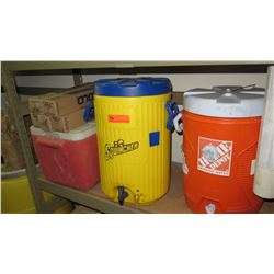 Qty 3 Plastic Coolers & Cups