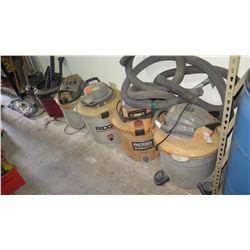 Qty 6 Shop Vacuum Cleaners