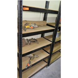 Metal Frame Shelving w/ Wooden Shelves