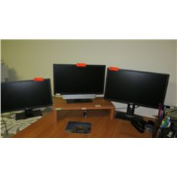 Qty 3 Dell Monitors