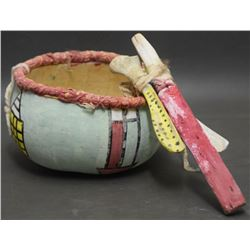HOPI INDIAN POLYCHROME GOURD RESONATOR (COOCHWYTEWA)