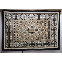 TWO GREY HILLS NAVAJO INDIAN TEXTILE (YAZZIE)
