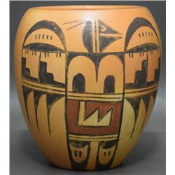 HOPI INDIAN POTTERY VASE (YOUVELLA)