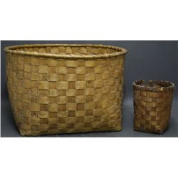 TWO MICMAC INDIAN BASKETS