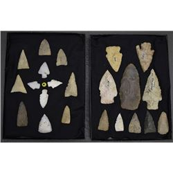 TWO FRAMES OF ARROW HEADS