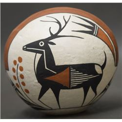ACOMA INDIAN POTTERY SEED JAR (VALLO)