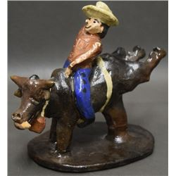 NAVAJO INDIAN POTTERY BULL RIDER (CHEE)