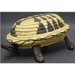 PAPAGO INDIAN BASKETRY TURTLE