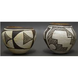 TWO ACOMA INDIAN POTTERY JARS