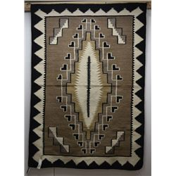 NAVAJO INDIAN TEXTILE TWO GREY HILL