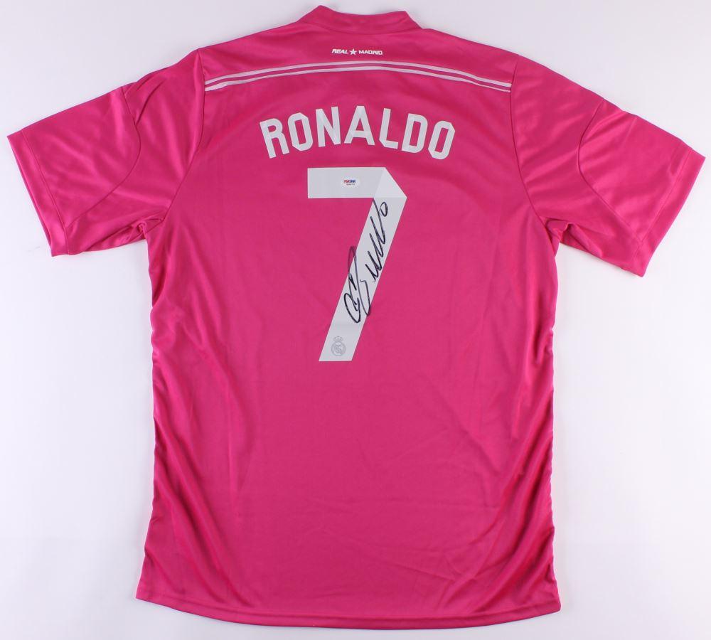 Cristiano Ronaldo Signed Real Madrid Jersey Psa Hologram