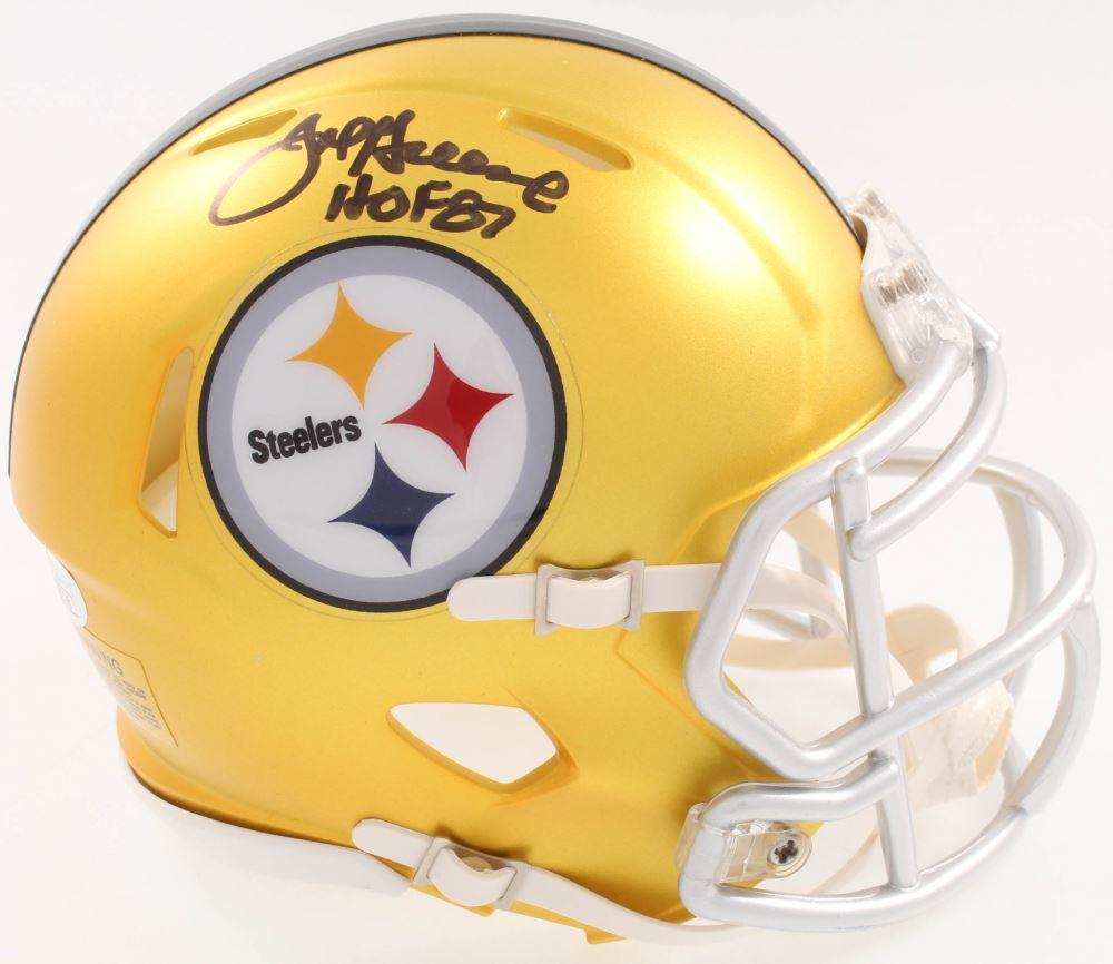 28ca507f513 Image 1 : Joe Greene Signed Steelers Blaze Speed Alternate Mini-Helmet  Inscribed