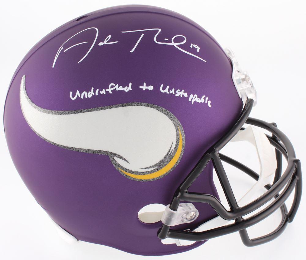 e1117134a2d Image 1 : Adam Thielen Signed Vikings Full-Size Helmet Inscribed
