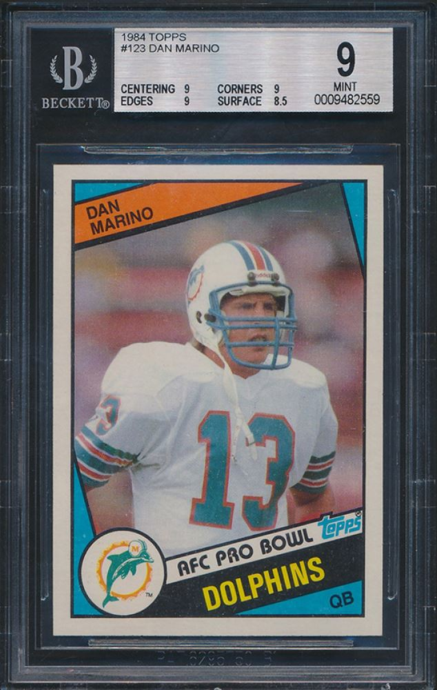finest selection 69cd5 2a559 1984 Topps #123 Dan Marino Pro Bowl RC (BGS 9)